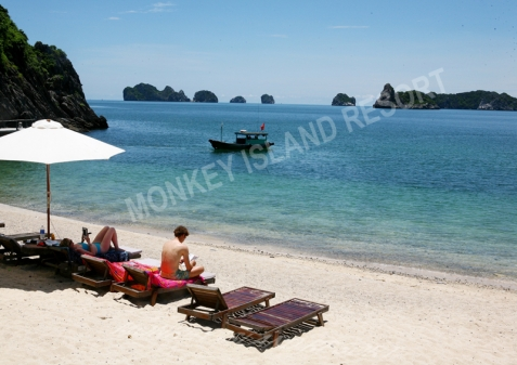 Relax on beach Monkey Island Resort Catba